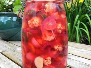 Let's try pickling those spring veg!