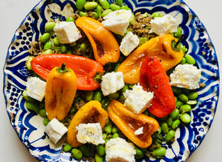 Recipe - Roasted Pepper and Edamame Bean Salad