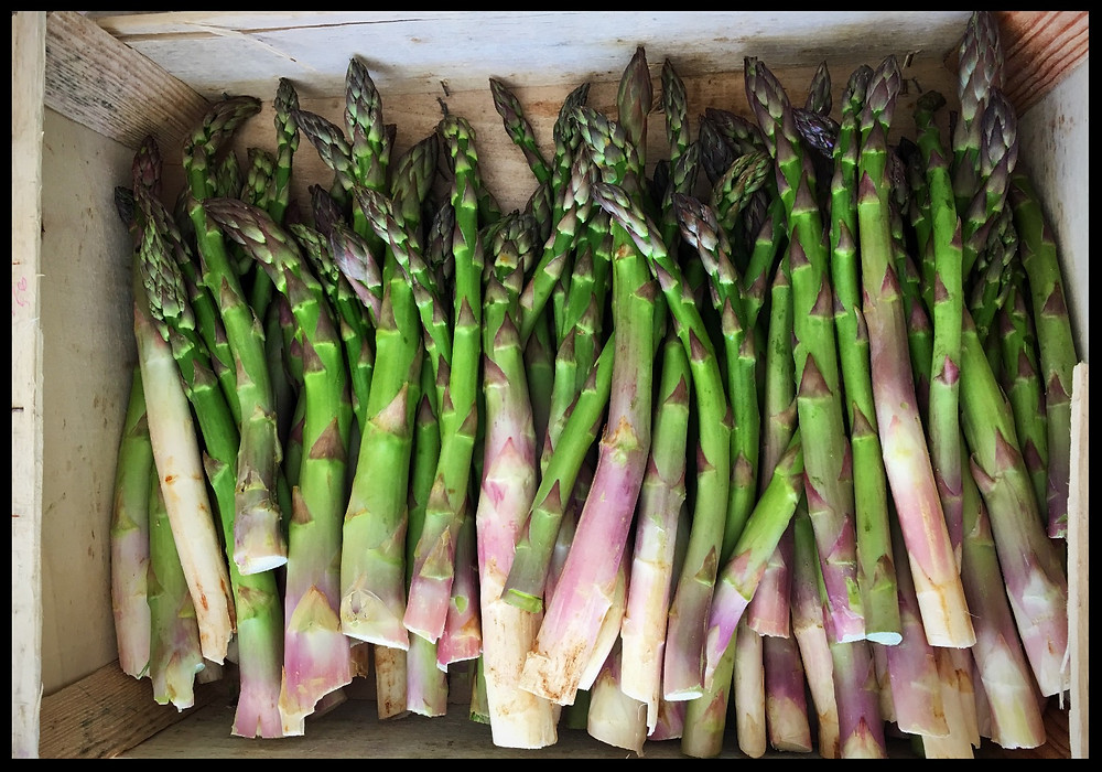 Asparagus from a local market in Drome Provencale