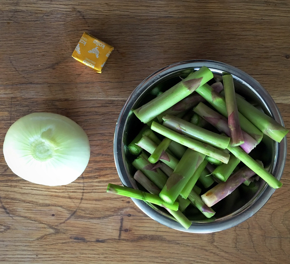 Ingredients for Cream of Asparagus