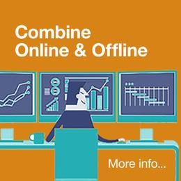 Combine online and offline