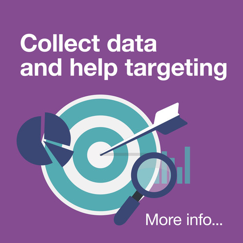 Collect data and help targeting