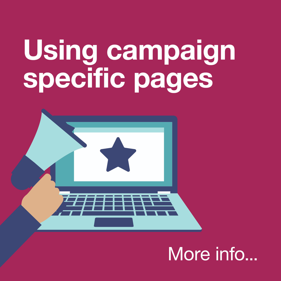 Using campaign specific pages