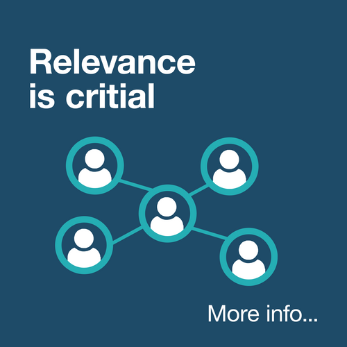 Relevance is critical