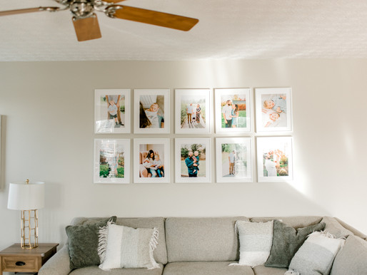 How to create a modern, simple gallery photo wall | Ikea | Colleen Lindhurst Photography