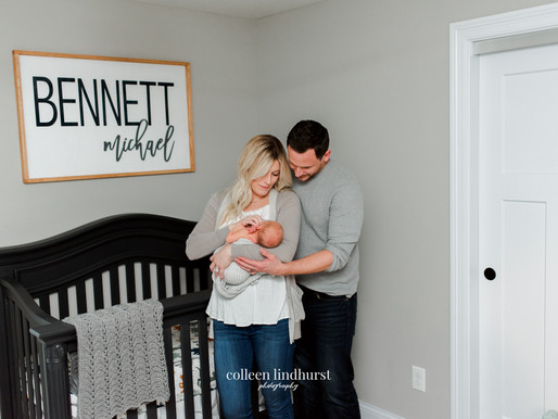 Baby Bennett | In-home Lifestyle Session | Columbus, OH