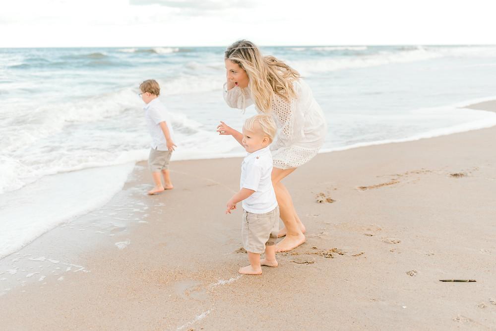 Family Beach Photos Mini Session - Guana Nocatee JAX Jacksonville Ponte Vedra St. Augustine Florida - Colleen Lindhurst Photography - Family Newborn Maternity Photographer-1