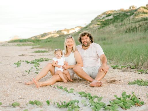 Gorgeous Beach Sunset Family Photo Session | Ponte Vedra, Florida