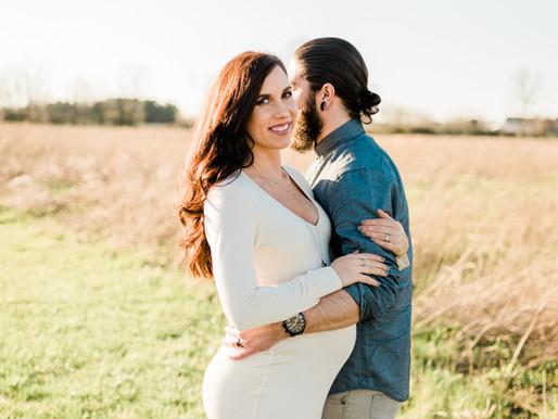 Sunset Maternity Shoot   Miller Family   Columbus, Ohio