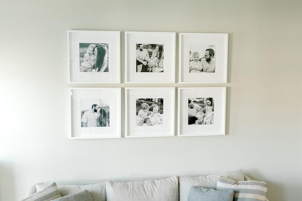 gallery wall, professional photographer columbus ohio, printing your photos, ikea