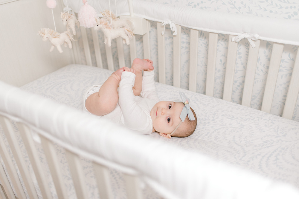 6 Month Old Milestone Photos In-home Lifestyle - Guana Nocatee JAX Jacksonville Ponte Vedra St. Augustine Florida - Colleen Lindhurst Photography - Family Newborn Maternity Photographer-3