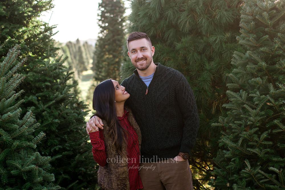 Christmas Tree Farm Mini Session   Daralyn & Barry   Columbus, OH   Engagement Photos