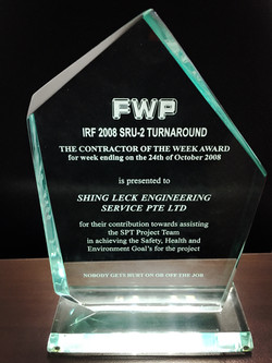 FWP The Contractor of The Week Award 24102008