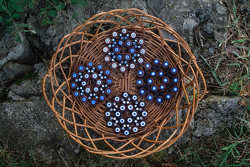 Wooden Mandala Coaster Set