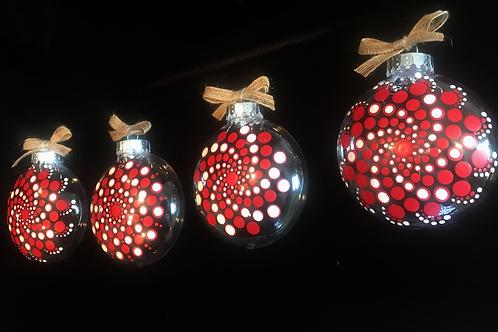 4 Set Plastic Ornaments