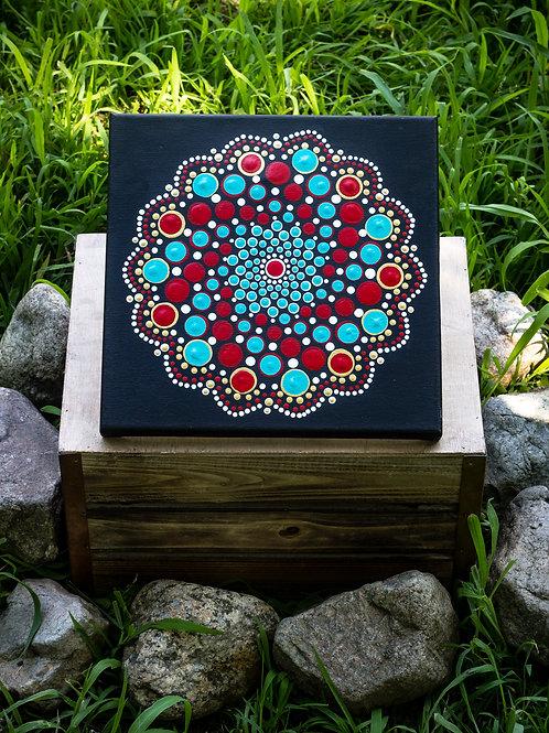 Large Mandala on Canvas