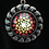 Thumbnail: Hand Painted Glass Mandala Necklace