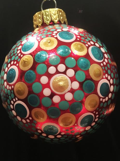 Mandala Glass Ornament