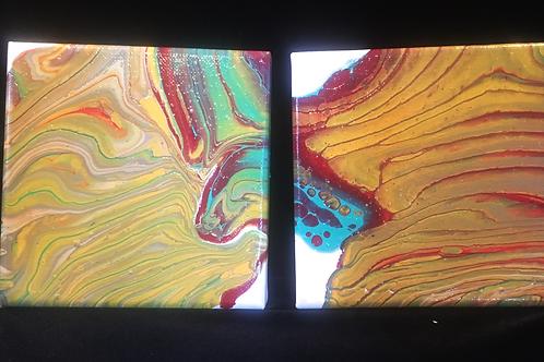 5x5 Canvas Acrylic Pour