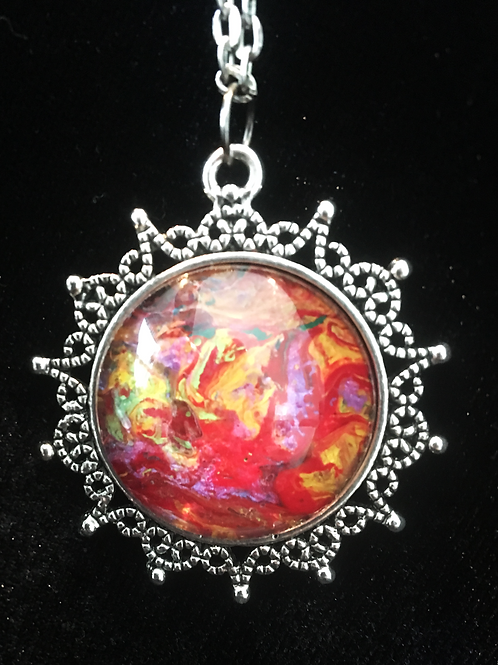 Fluid Painting Necklace