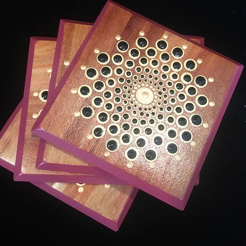 Wooden coaster Set