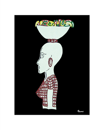 Greeting Card: Market Woman (5-pack)