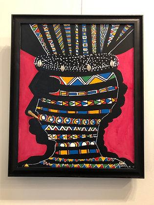 Original: Sha-Man, Man of Wisdom  (Framed)