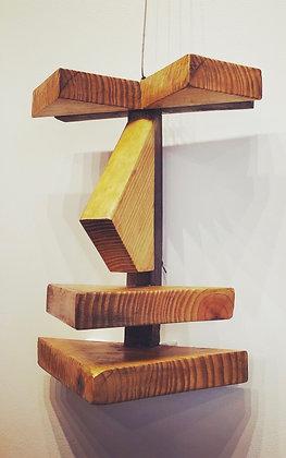 Sculpture: Triangular Wooden Wall Mask