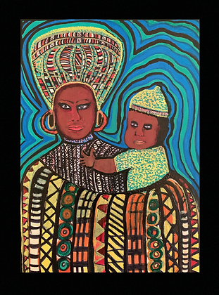 Greeting card: Mother and Child (5-pack)