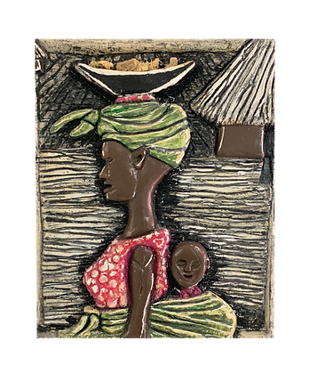 Print: A Peek Through the Window, Our African Tradition (Unframed)