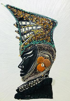 Original: African Queen Warrior (Framed)
