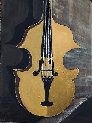 Print: Golden Violin (Unframed)