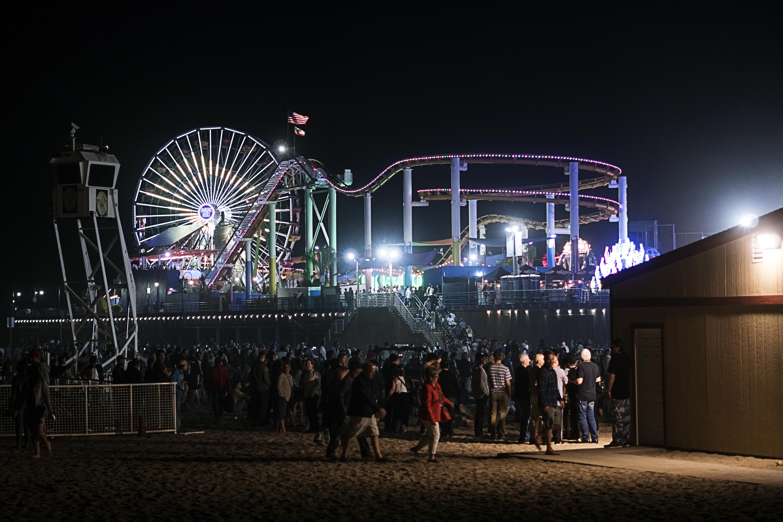 Santa Monica on a Summer Night.