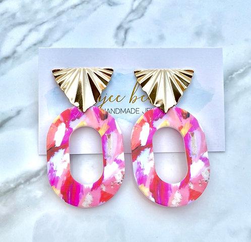 Be My Valentine Earrings - Oval