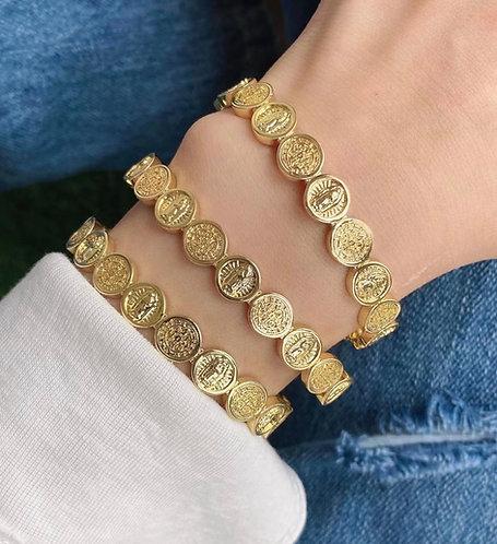 *PRE ORDER - Boujee Blessing Cuff Bracelet - Gold IN STOCK NOV 1