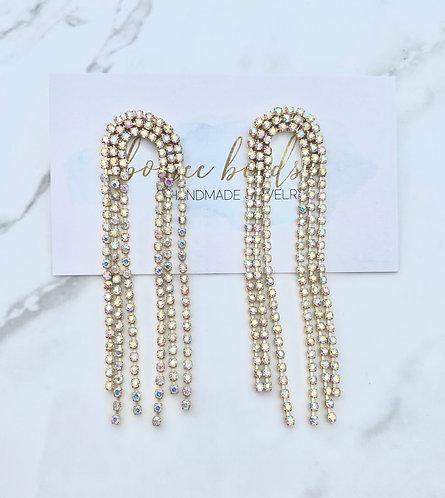 Opal Arch Fringe Earrings