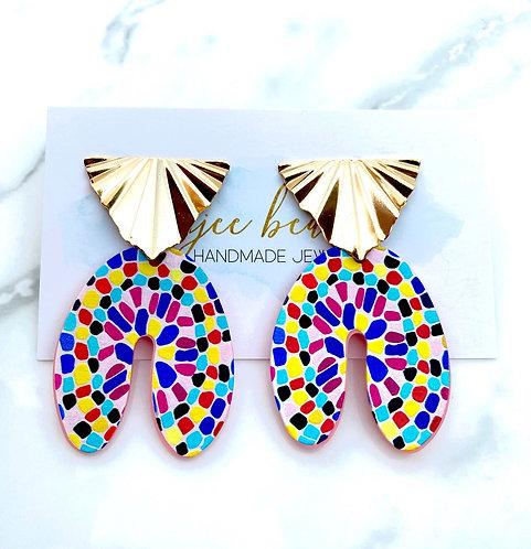 Multicolor Mosaic Earrings