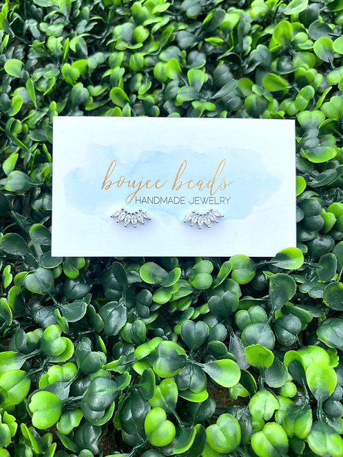 Boujee Crystal Studs - Silver