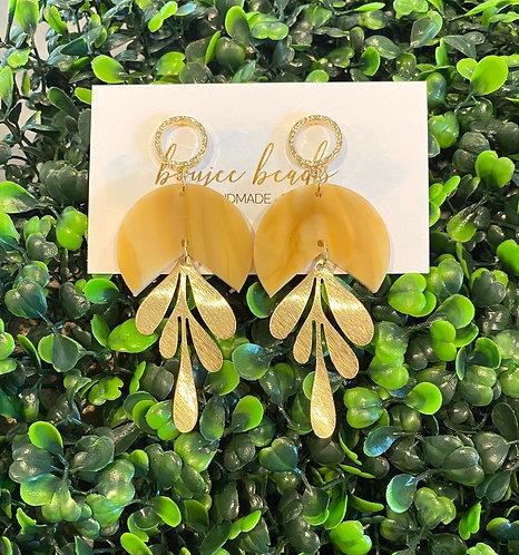 The Dayna Earrings - Blonde Tortoise