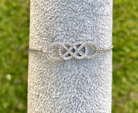 Silver Pavè Infinity Bracelet