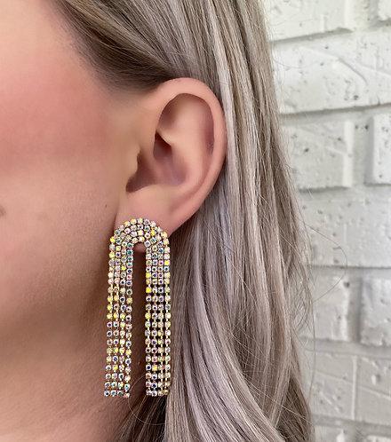Opal Arch Statement Earrings