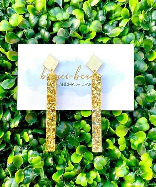 Gold Confetti Stick Earrings