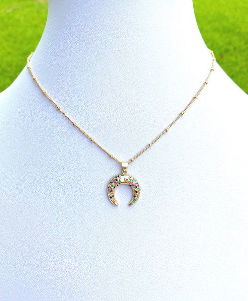 Multicolor Horn Necklace