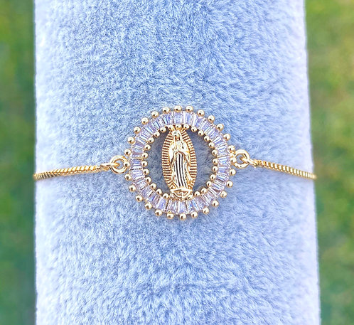 Clear Baguette Adjustable Bracelet
