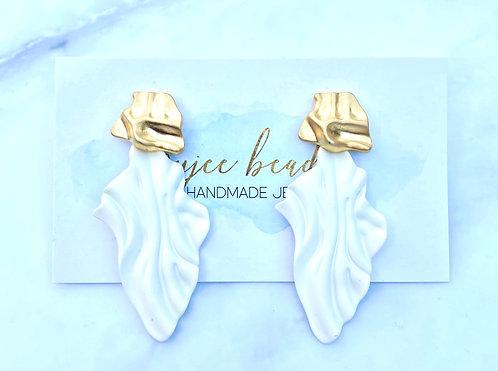 Ivory Wave Earrings
