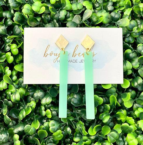 Mint Aqua Stick Earrings