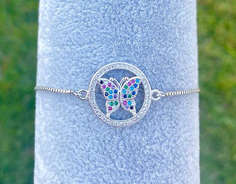Pavè Butterfly Adjustable Bracelet