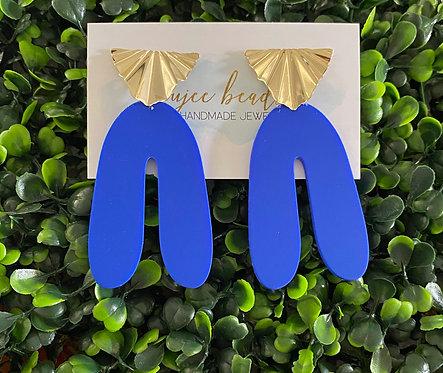 Bold Matte Blue Earrings