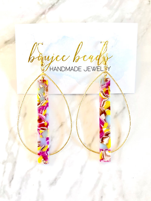 Maddie Oval Hoop Earrings