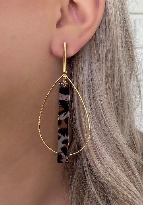Leopard Maddie Hoop Earrings